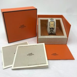 Hermès Croisière CR1.220 Watch w/GoldDéployantBand